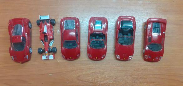 Продавам 6 броя Ferrari, мащаб 1/38
