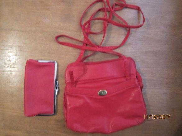 Дамска чанта +портмоне