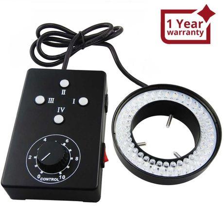 Пръстеновидна LED лампа за обектив на камера и микроскоп