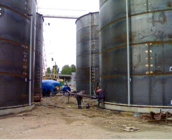 монтаж, демонтаж резервуаров РВС, металлоконструкций.