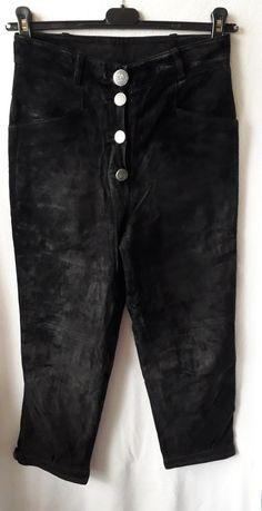 Pantaloni piele intoarsa tip bavarezi