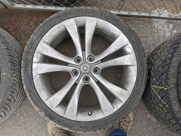 Алуминиеви джанти 5 х 120, 20 х 8,5 с нови гуми за Опел Инсигния