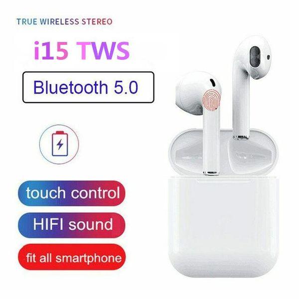 Топ модел безжични Bluetooth слушалки i15 TWS със сензорно управление гр. Силистра - image 1