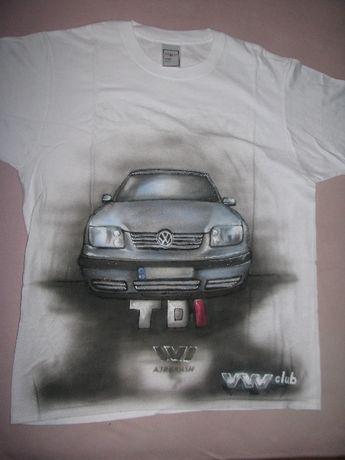 Продавам тениски VW ,ръчно рисувани