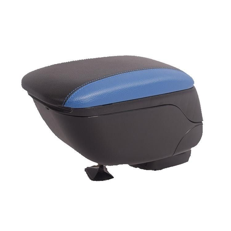 Универсална черна + синя конзола ,Подлакътник с плъзгаща опора,
