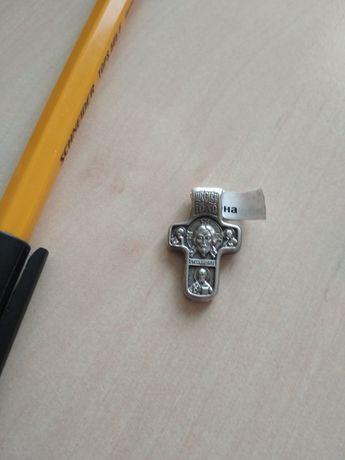 Нов масивен сребърен кръст, медальон