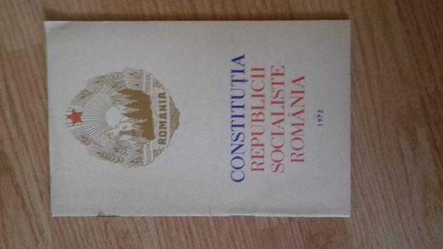 """Carte-brosura """"Constitutia Republicii Socialiste Romania"""""""