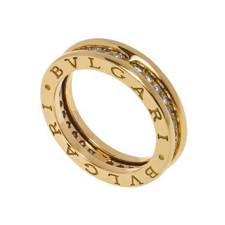 Inel Bulgari aur galben 18K, diamante 0.50 ct.