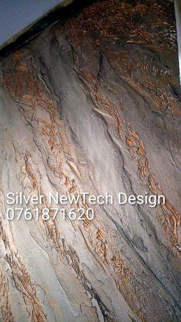 Vopsea aspect marmorat cu protectie rasina epoxidica
