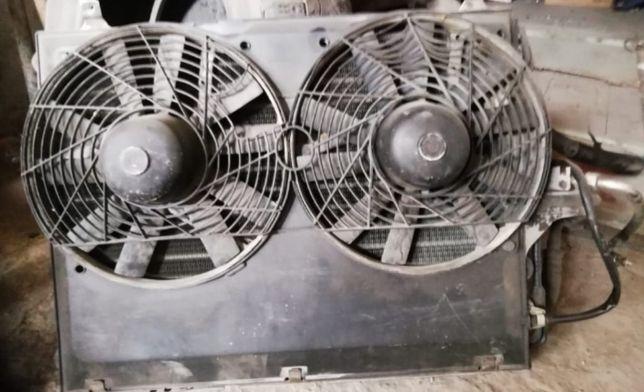 Радиатор+вентилятор кондиционера от мерседес 124