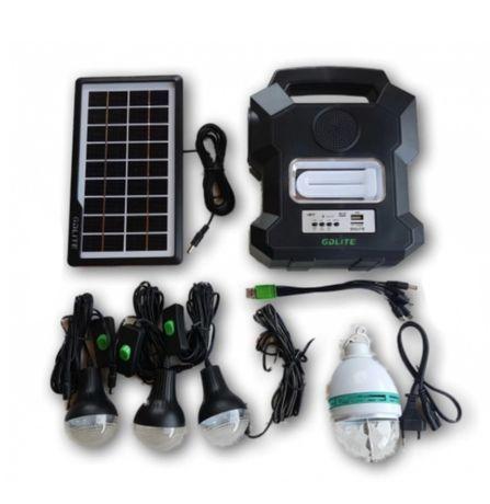 Kit de incarcare solara Gdlite 1000A USB MP3 Radio FM 4 becuri inclus