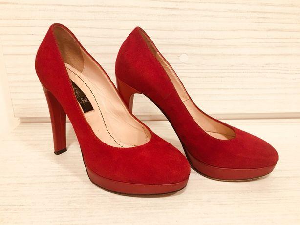 Pantofi rosii piele intoarsa Musette, mar. 35