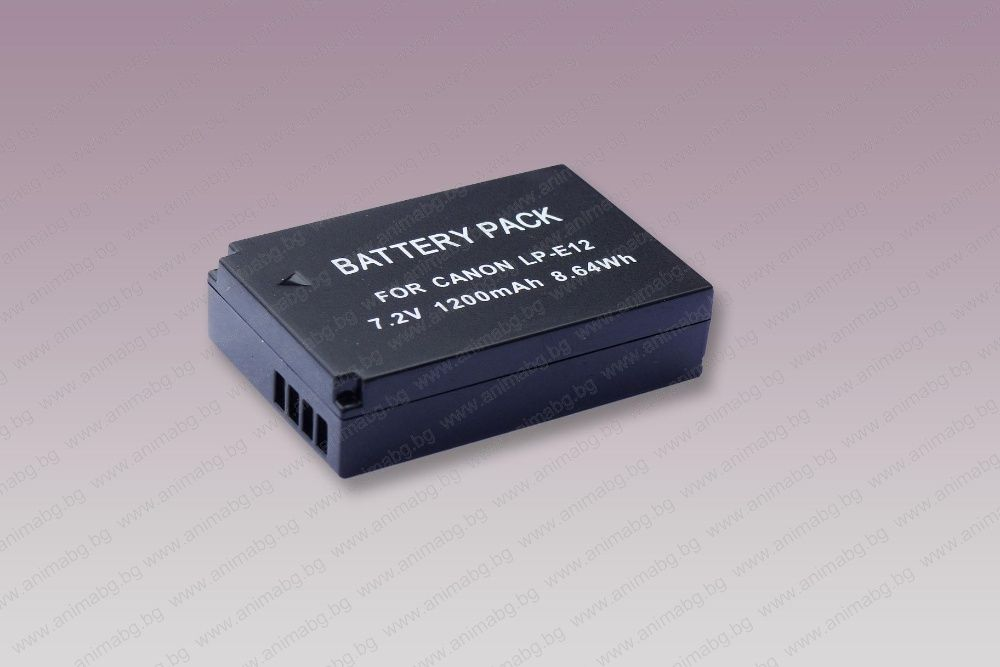 ANIMABG Батерия модел LP-E12 за фотоапарати на Canon M M2 M10 M50 M100