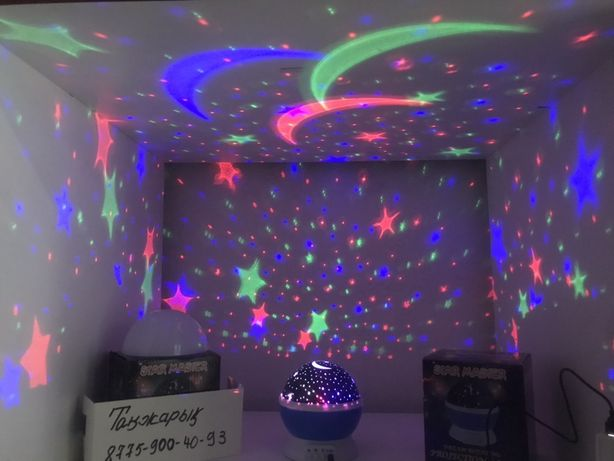Ночник - проектор звездное небо Star Master Dream вращающийся