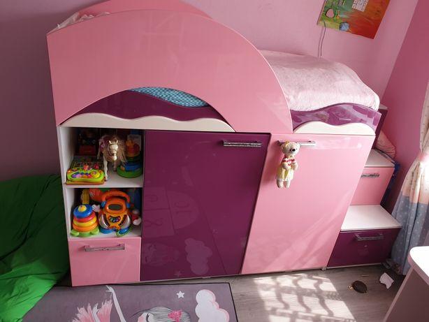 Кровать+шкаф+хранилище для игрушек