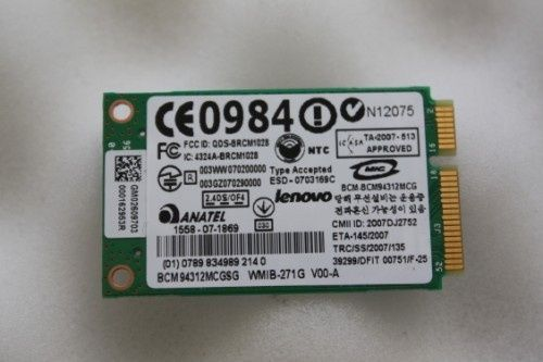 Placuta , modul wireless Broadcom BCM94312MCGS