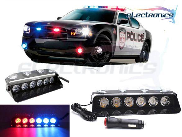 Полицейски сигнален блиц - Аварийна лампа,18W 12V 16 Режима