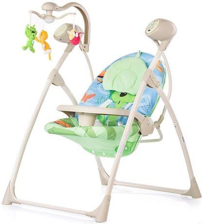 Електрическа бебешка люлка-шезлонг Chipolino *Тропикана* Приятел