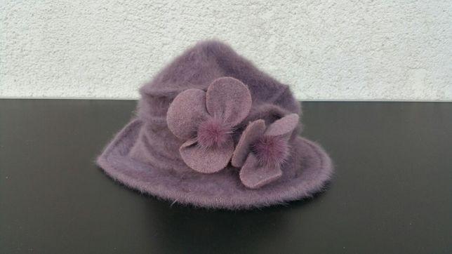 Palarie - caciula - eleganta - dama - angora