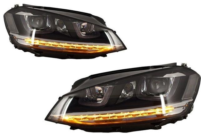 Faruri 3D VW Golf 7 (2012-2017) R-Line LED Semnalizare Dinamica