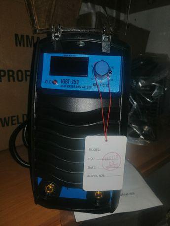 Уникален инверторен електрожен ММА250 НТ - TURBO LUX с 4 метра кабели