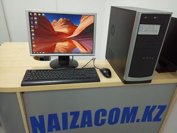 Компьютер 2х ядерн. Windows 7 полный комплект. Широкий Монитор.