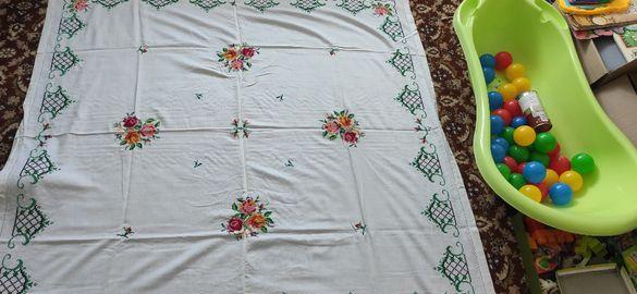 Плетена покривка за легло (ново) Бродирана покривка