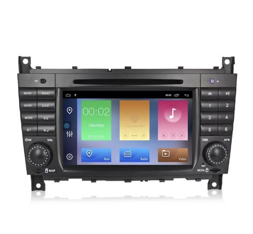 Navigatie Android 10 DSP CarPlay Mercedes W203 W209 W219 A, C Class