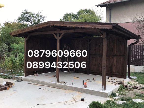 Направа на всякакъв вид дървени Навеси тераси беседки. В цялата страна