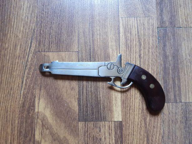 Deschizător de sticle și conserve din otel forma de pistol