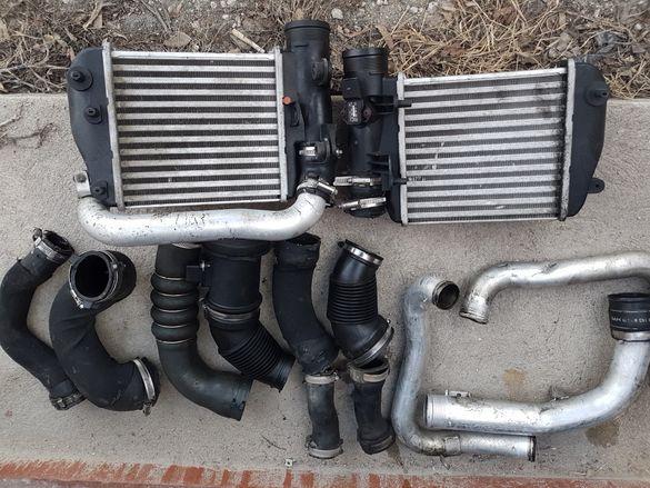 Интеркулер радиатор кулер и турбо пътища Ауди Audi A6 4F/C6 3.0 TDI
