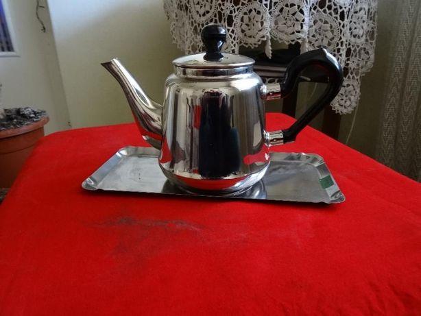 Ceainic cu tavita din inox-Nou