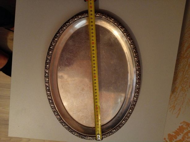 Vind tava din argint masiv ani 1920-1930 greutate 870g