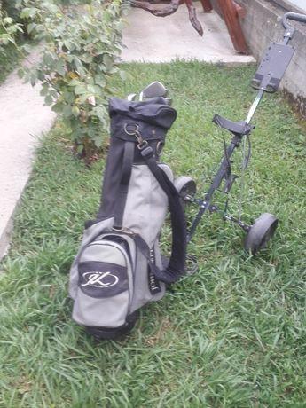 Set crose golf cu cărucior pentru transport