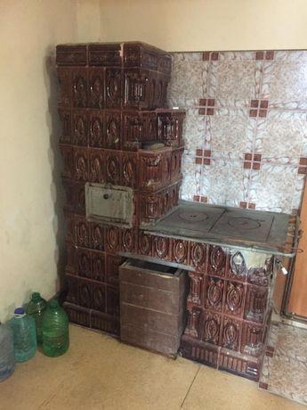 Teracotă de bucătărie cu plită din fontă