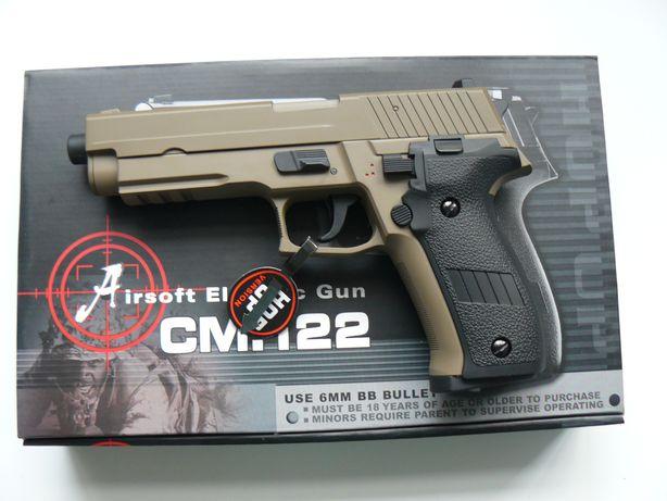 "Pistol Airsoft Electric ""SIG SAUER P226"" CM 122 CYMA, Nou, Culoare Tan"