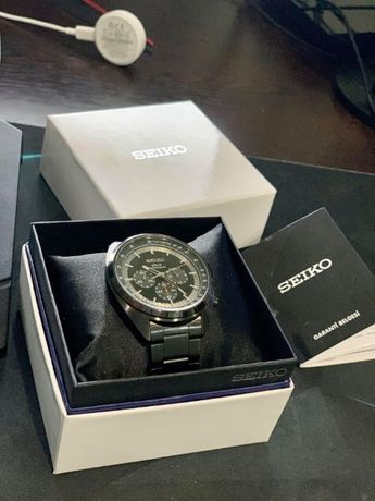 Seiko Solar Chronograph Black Dial Men's Watch SSC623