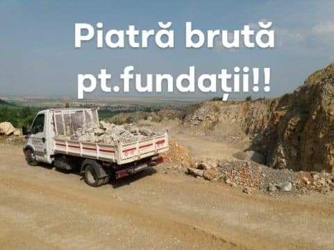 Piatra bruta pentru fundații
