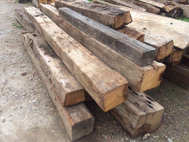 Grinzi vechi stejar si brad din demolari