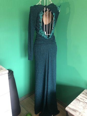 Официална рокля с един ръкав и гол гръб