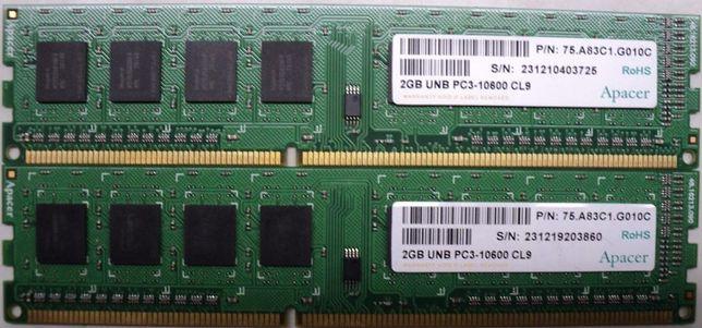 Kit Rami PC 2x2Gb DDR3 PC3 10600 CL9 Testat