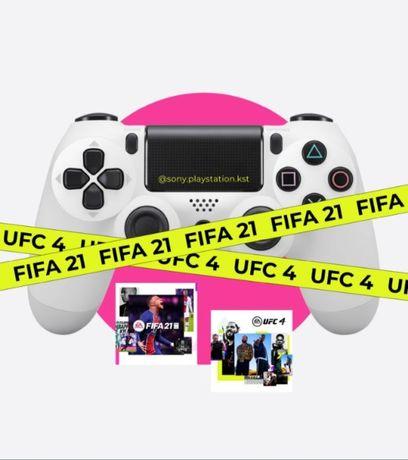 Прокат Аренда Сони PlayStation 4 (PS4). FIFA, UFC. Mortal Kombat, GTA