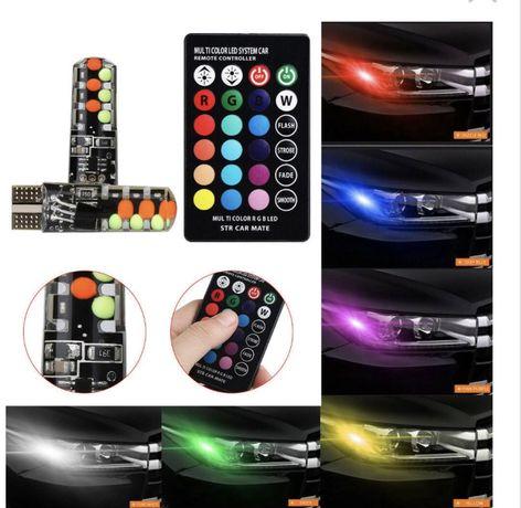 Becuri pozitie-plafoniera leduri color cu telecomanda