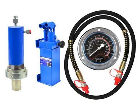 К-кт двускоростна помпа, цилиндър и манометър за хидравлична преса 30т