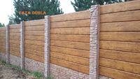 Gard prefabricat din beton,FATA DUBLA,Sector 1 Bucuresti