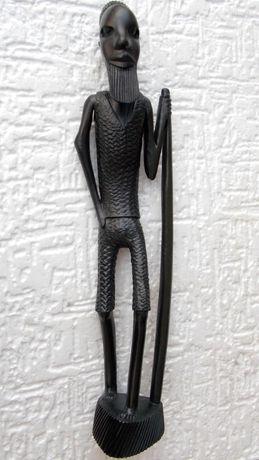 Statueta veche unicat abanos 36,5 cm arta africana colectie antichitat