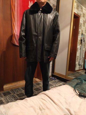 Куртка кожаный черный