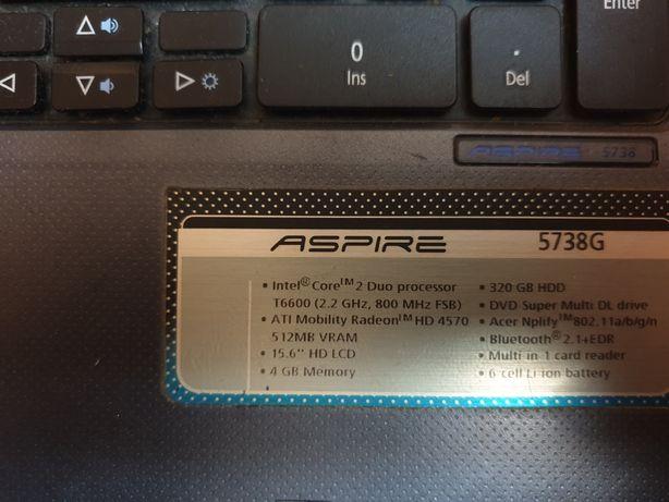 Laptop acer aspire 5738g