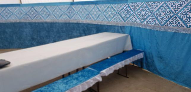 Продаётся новая юрта, готовая, укомплектованная /лавки, столы, чехлы/