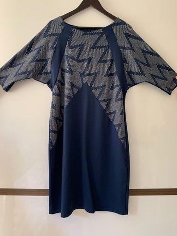 Тъмносиня дамска рокля